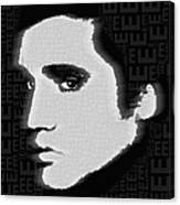 Elvis Presley Silhouette On Black Canvas Print