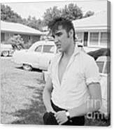 Elvis Presley with his Cadillacs Canvas Print