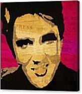 Elvis Singing The Blues Canvas Print