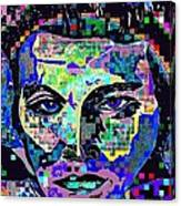 Elvis The King Abstract Canvas Print