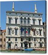 Embassy Building Venice Italy Canvas Print