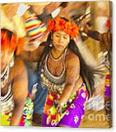 Embera Villagers In Panama Canvas Print