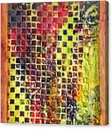 Embossed Blocks Encaustic Canvas Print