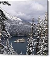 Emerald Bay In Winter Canvas Print