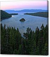 Emerald Bay Sunset Canvas Print