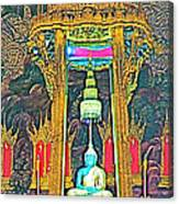 Emerald Buddha In Royal Temple At Grand Palace Of Thailand Canvas Print