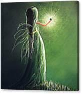 Emerald Fairy By Shawna Erback Canvas Print