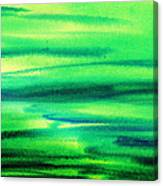 Emerald Flow Abstract I Canvas Print