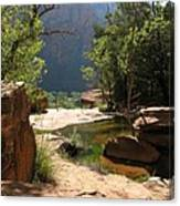 Emerald Pool View Canvas Print