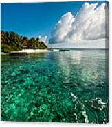 Emerald Purity. Kuramathi Resort. Maldives Canvas Print