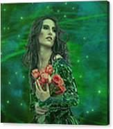 Emerald Universe Canvas Print