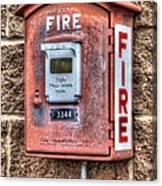 Emergency Fire Box Canvas Print