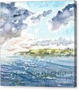 Emerging Sun  Canvas Print