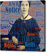 Emily Dickinson Canvas Print