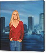 Emily  Miami Skyline Canvas Print