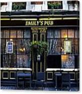 Emily's Pub Canvas Print