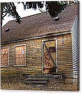 Eminem's Childhood Home Taken On November 11 2013 Canvas Print