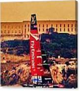 Emirates At Alcatraz Canvas Print