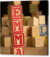Emma - Alphabet Blocks Canvas Print