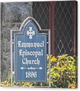 Emmanuel Episcopal Church  Canvas Print