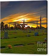 Emmett Cemetery Canvas Print