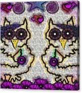 Emo Owls Canvas Print