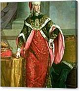 Emperor Francis I 1708-65 Holy Roman Emperor, Wearing The Official Robes Of The Order Of St. Stephan Canvas Print