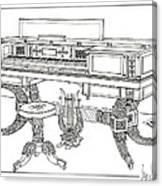 Empire Period Piano 1820 Canvas Print