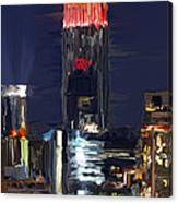 Empire State Buidling On The Water Canvas Print