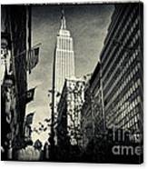 Empire State Building And Macys In New York City Canvas Print