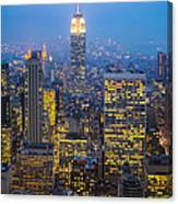 Empire State Building And Midtown Manhattan Canvas Print
