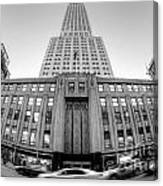 Empire State Building In Black And White Canvas Print