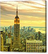 Empire State Building In The Evening Canvas Print