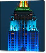 Empire State Building Lit Up At Night Canvas Print