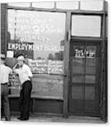Employment Bureau, 1937 Canvas Print