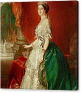Empress Eugenie Of France 1826-1920 Wife Of Napoleon Bonaparte IIi 1808-73 Oil On Canvas Canvas Print