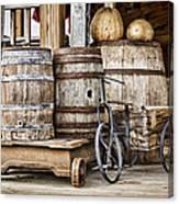Emptied Barrels Canvas Print