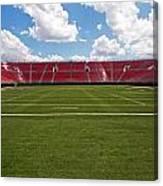 Empty American Football Stadium Canvas Print