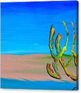 Empty Beach In Tel Aviv Abstract Seascape Canvas Print