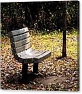 Empty Bench Meditation Spot Canvas Print