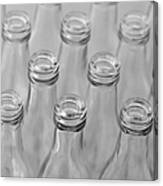 Empty Bottles Abstract Canvas Print