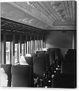 Empty Railway Coach Canvas Print