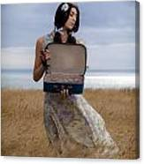 Empty Suitcase Canvas Print