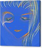 En Blue Canvas Print
