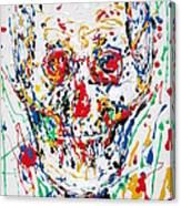Enamels Skull Painting Canvas Print