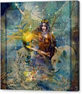 Angel Tarot Card Enchanted Princess Canvas Print