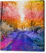 Enchanted Rainbow Forest  Canvas Print