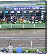 End Of An Era At Bay Meadows With Their Last Horse Race Canvas Print