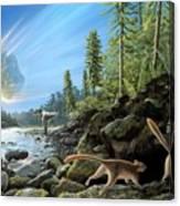 End Of Cretaceous Kt Event Canvas Print