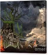 End Of Dark Night Canvas Print